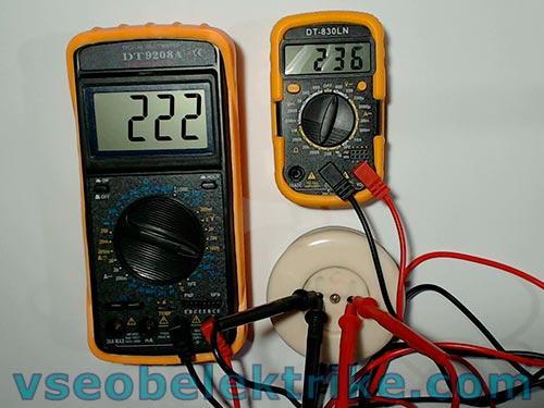 измерение напряжения в сети 220 вольт разными приборами