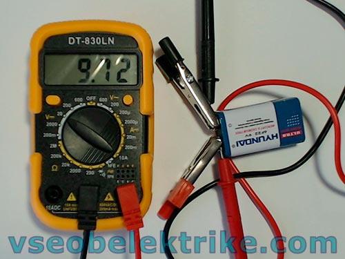 измерение постоянного напряжения тестером