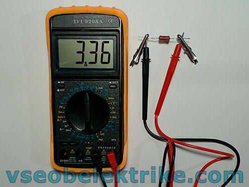 измерение сопротивления резистора